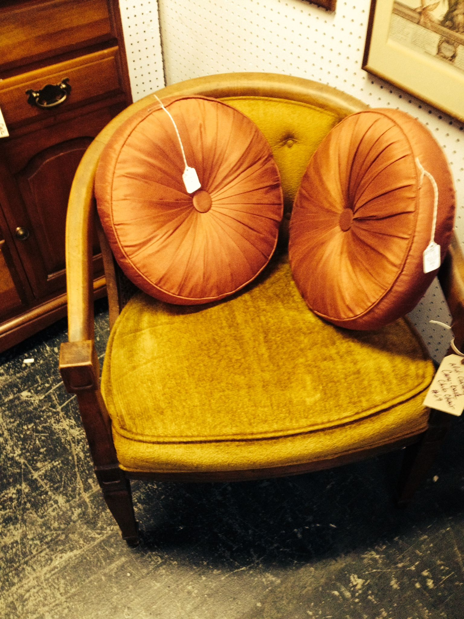 Downtown Antique mall, mid-century club chair, $69.00.