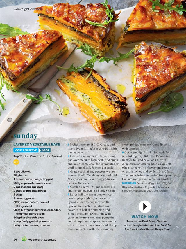 Fresh Magazine Woolworths Recipes Vegetarian Recipes Baked Vegetables