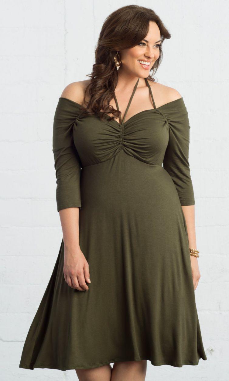 3087f8617d29 ... plus sizes. Enticing Tie Dress