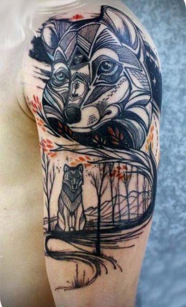 Tatuaże Męskie Wilk Tattoos Wolf Tattoos Tattoos