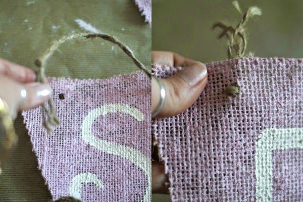 Coffee Beans and Bobby Pins: DIY Burlap Banner