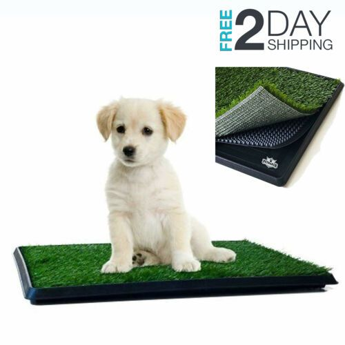 Details About Pet Potty Trainer Grass Mat Dog Puppy Training Pee