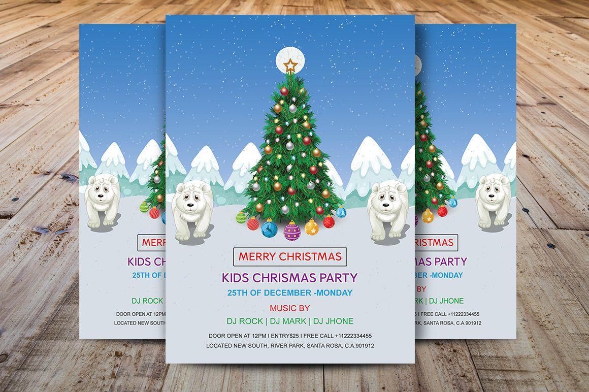 Kids Christmas Party flyer   Printable Christmas Invitations ...
