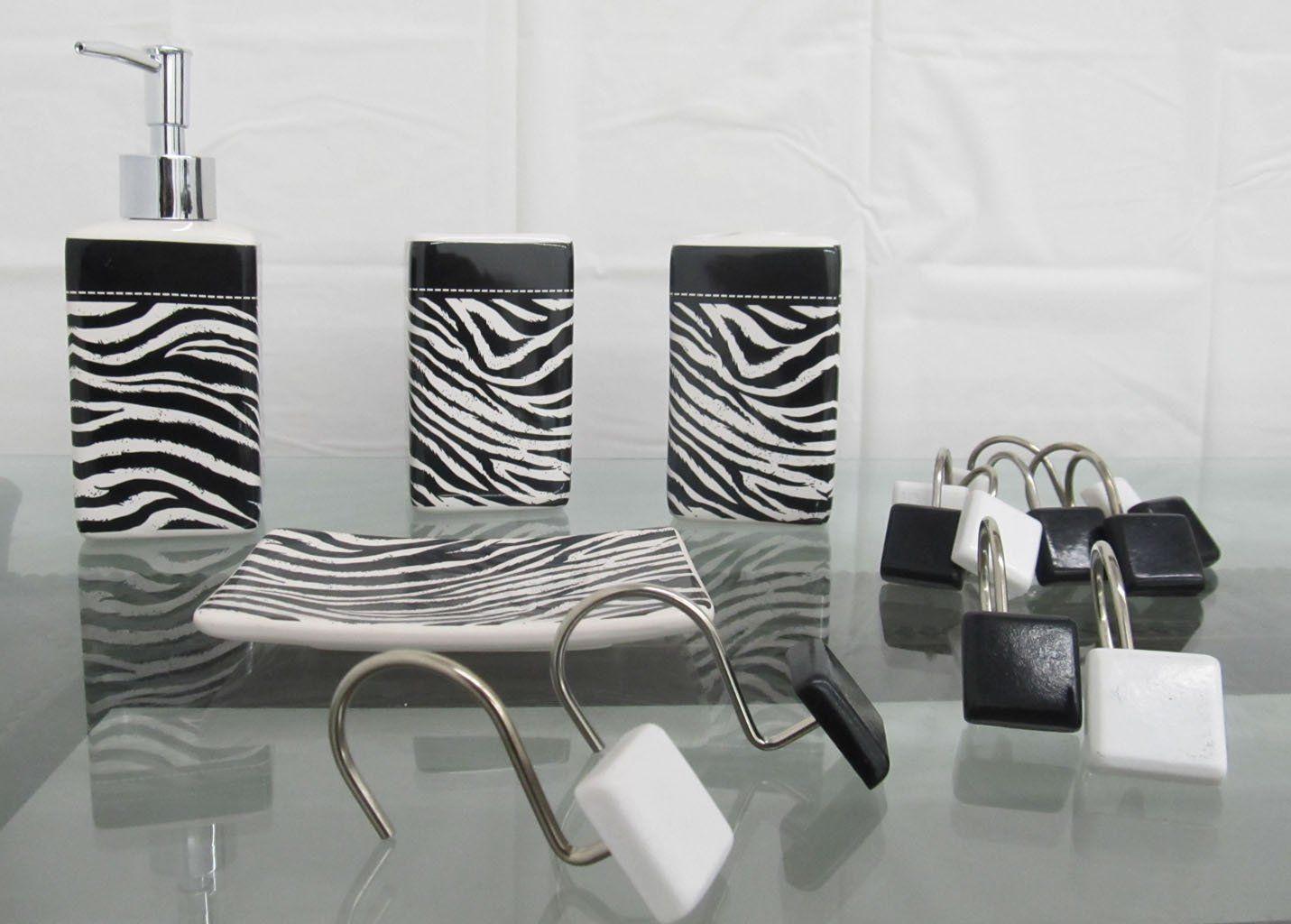 Zebra Print Bathroom