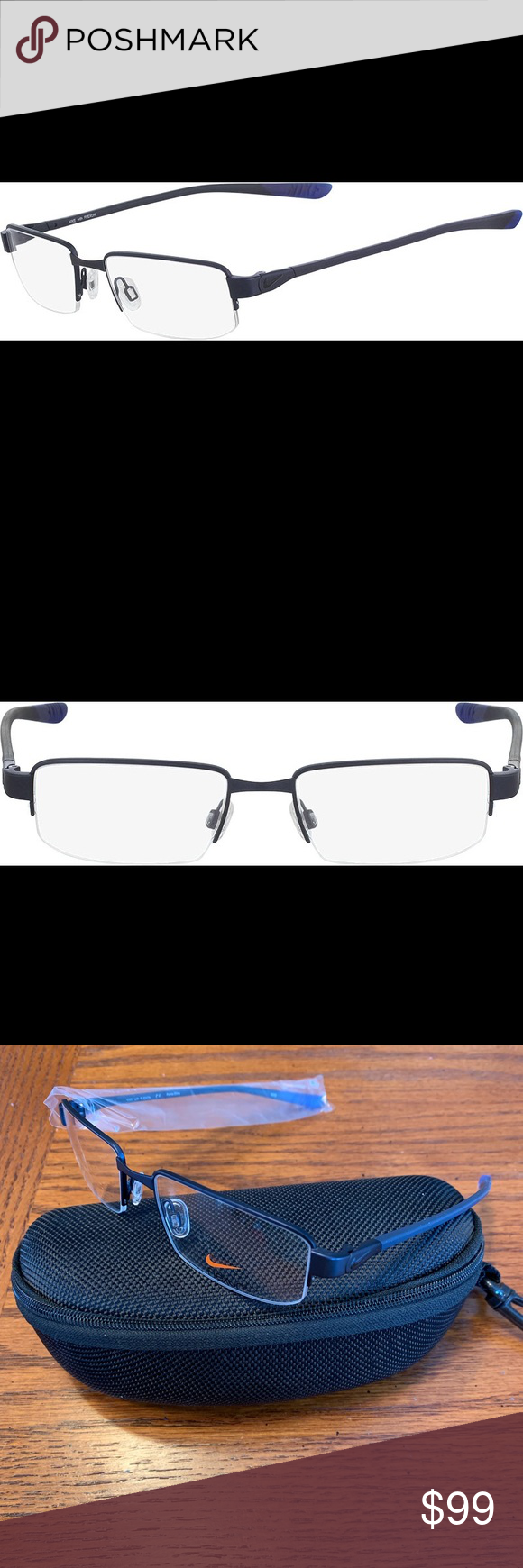26f523f618ae Nike Eyeglass Frame 4275 New fixed price 53-18-140 Rand new Nike eyeglass  frames made with Flexon. Flexon is a flexible metal so the glasses can hold  up to ...