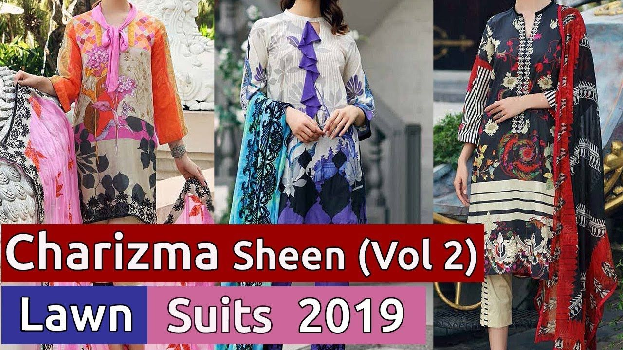 382dc2a627 New CHARIZMA SHEEN (Vol 2) Designer Lawn Dresses 2019 | Latest Pakistani.