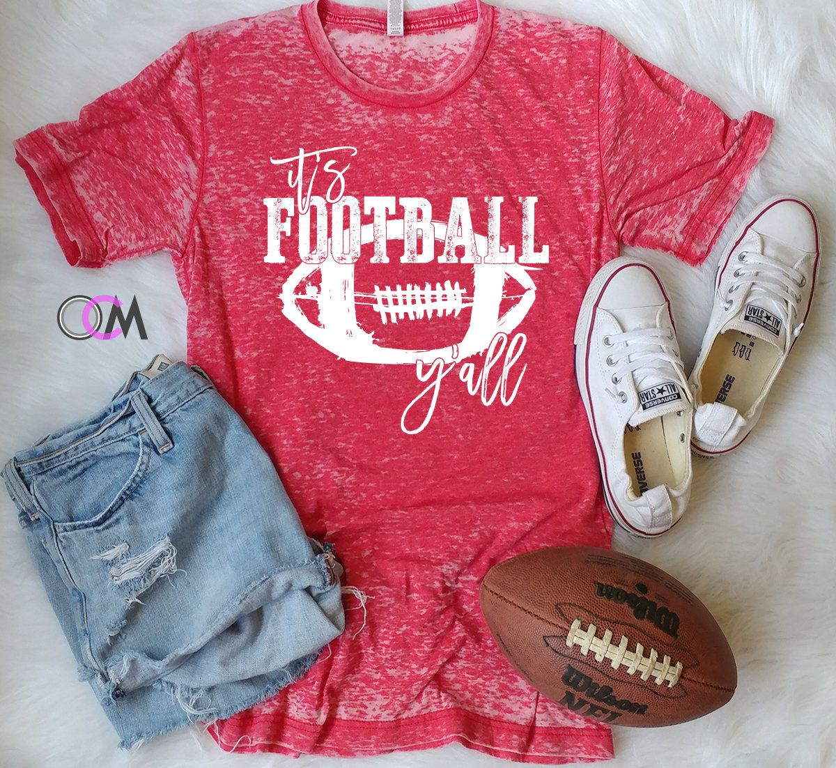 43b6c39fc It's Football Y'all, Football Shirt, Football Mama Shirt - Eroded 24.99