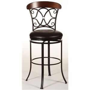 Metal Stools Dundee Swivel Counter Stool By Hillsdale