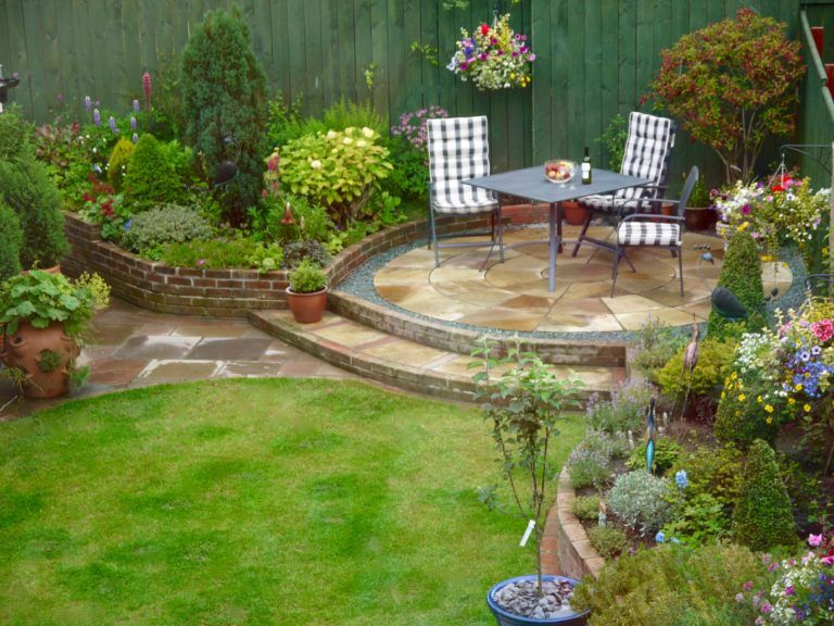 Raised Sandstone Patio Steps Garden Design Landscapers Teesside Darlington Middlesbrough Fairfield So Backyard Garden Design Patio Landscaping Garden Layout