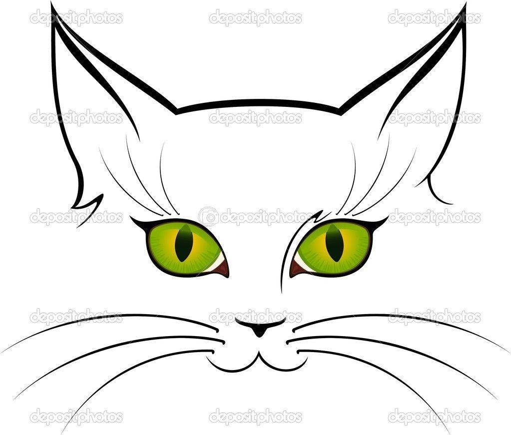Grafika Wektorowa Oczy Kota Cat Outline Cat Art Cat Drawing