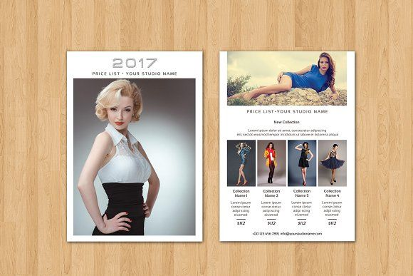 Fashion Photography Price List V By Template Shop On - Price list brochure template