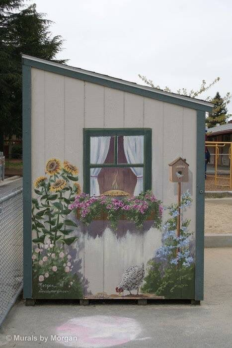 Paint a mural on shed...looking lovely | Garden mural ...