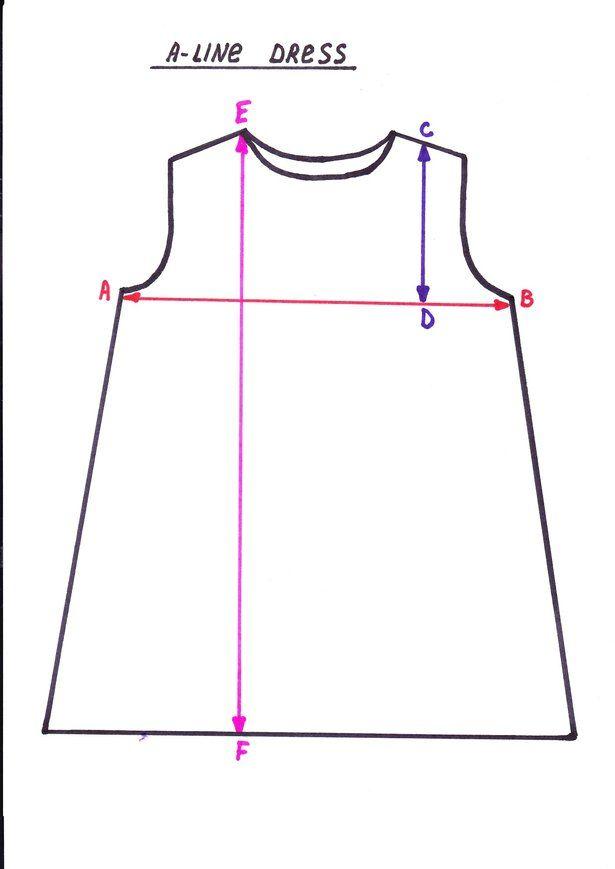 A-line Dress Pattern | Costura, Patrones y Vestidos niña
