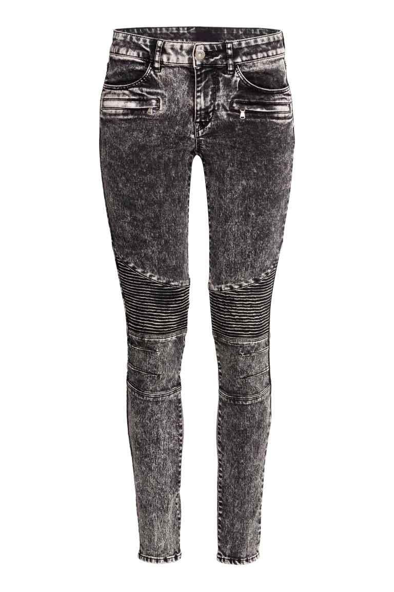 Pantalon de style motard   Style motarde, Pantalon en faux