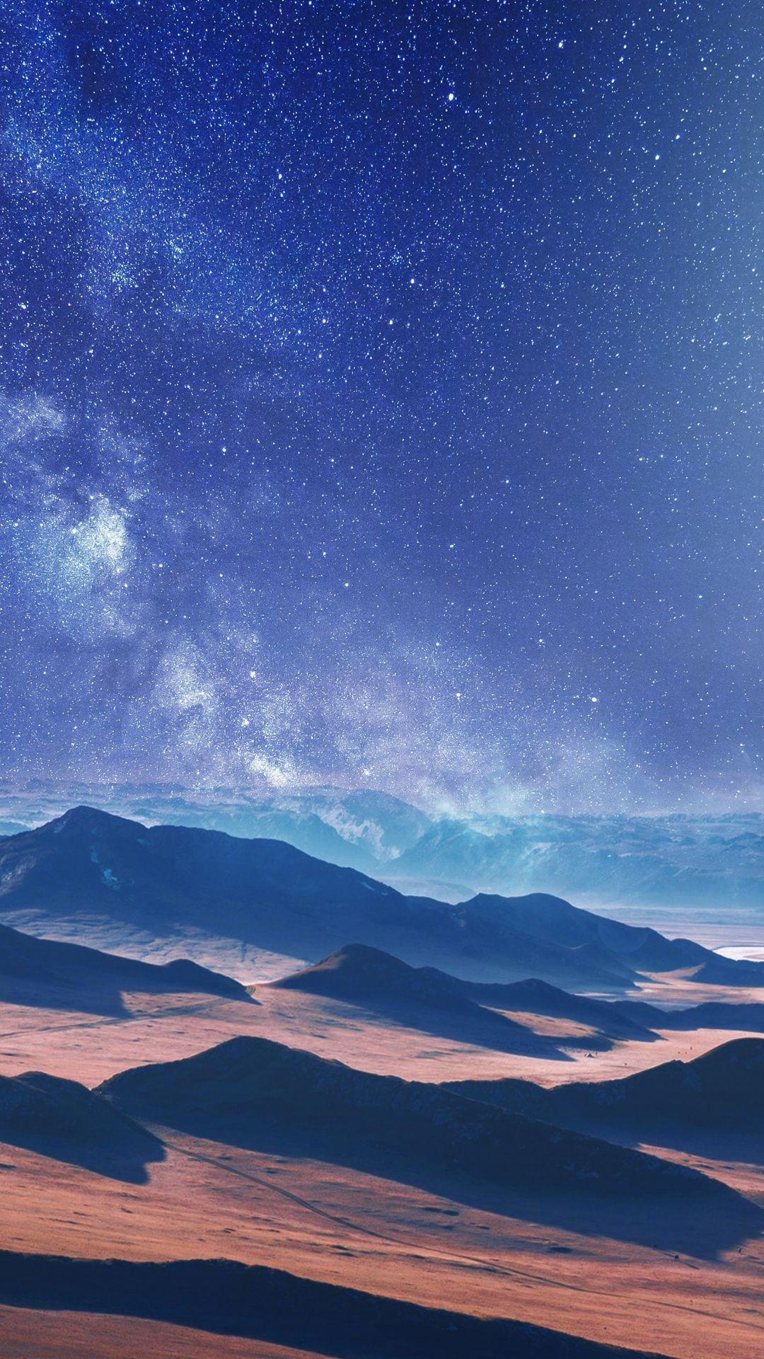 1080x1920 Moon Desert Landscape Night Nature Wallpaper Landscape Wallpaper Nature Wallpaper Milky Way