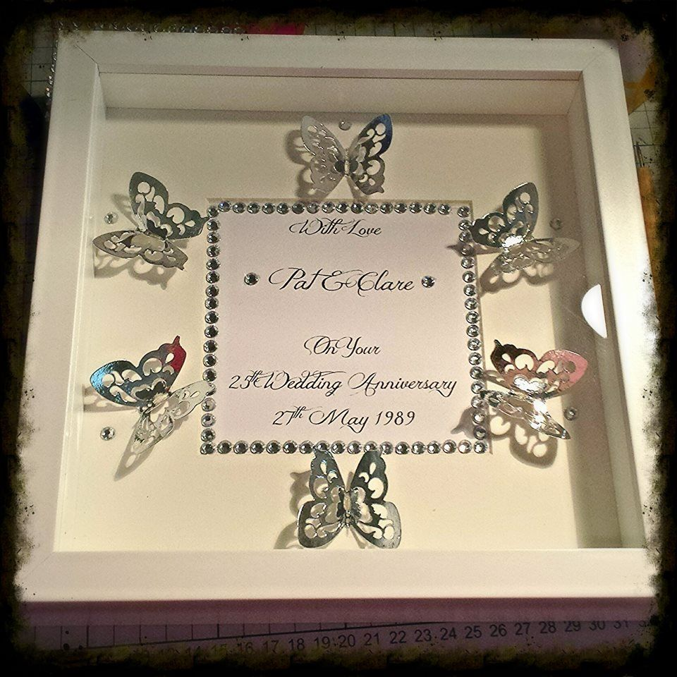 beautiful box frame silver and bling theme for silver wedding ...