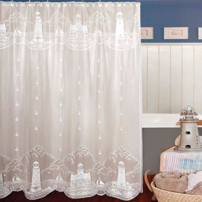 Heritage Lace Lighthouse Shower Curtain Lace Shower Curtains