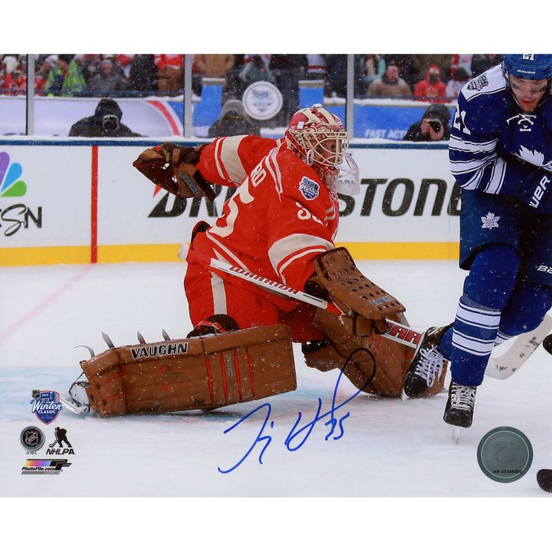"""Jimmy Howard Detroit Red Wings Fanatics Authentic Autographed 8"""" x 10"""" Winter Classic Photograph"""