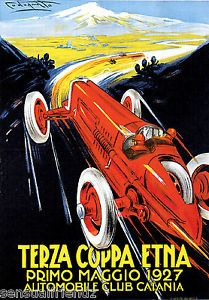 Italy-Grand-Prix-Automobile-Racing-Terraza-Coppa-Etna-Art-Poster-1927 ...