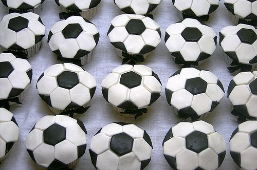 Awesome soccer cupcakes