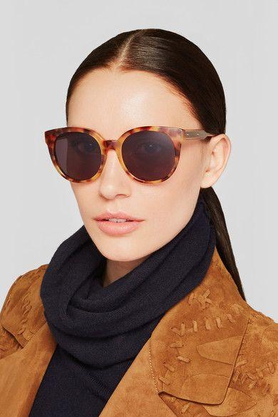 Bottega Veneta   Cat-eye acetate and metal sunglasses   NET-A-PORTER.COM