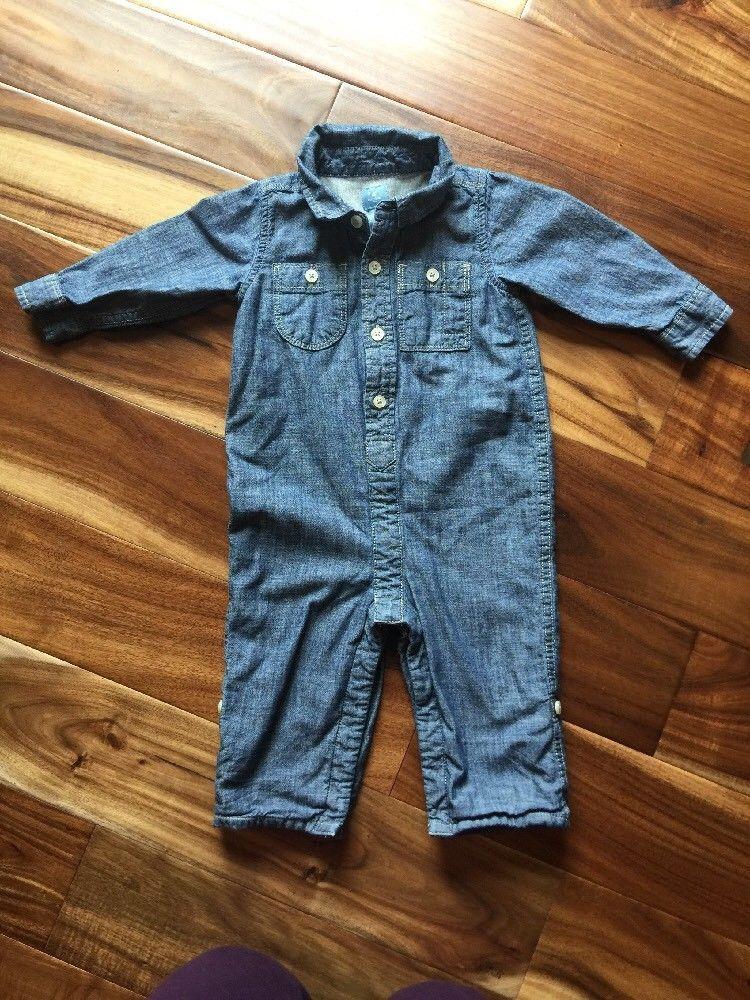 f34ac534 Baby Gap Boys Chambre Romper 12-18 months | eBay | Boys Clothing 0 ...
