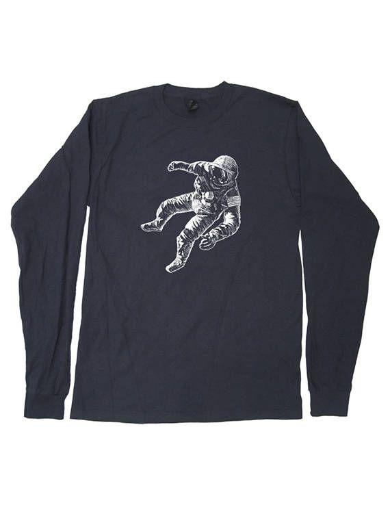 71274e8f1 Astronaut Mens Long Sleeved Outer Space Shirt - Mens / Unisex Long ...