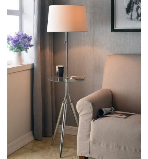 Floor Lamps With Table Attached Side Accent End Small Spaces