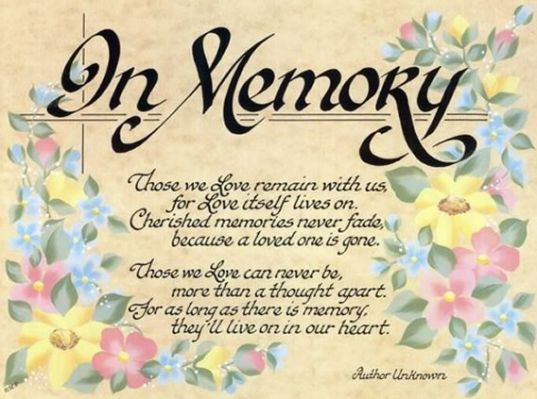 Remembrance Of A Loved One Quotes Simmons Family Reunion Fascinating In Memoriam Of A Loved One