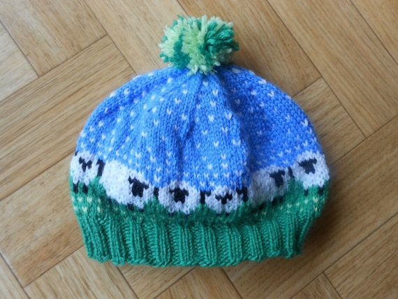 Knit baby hat Newborn sheep fair isle by CuteCreationsByLea | Fair ...