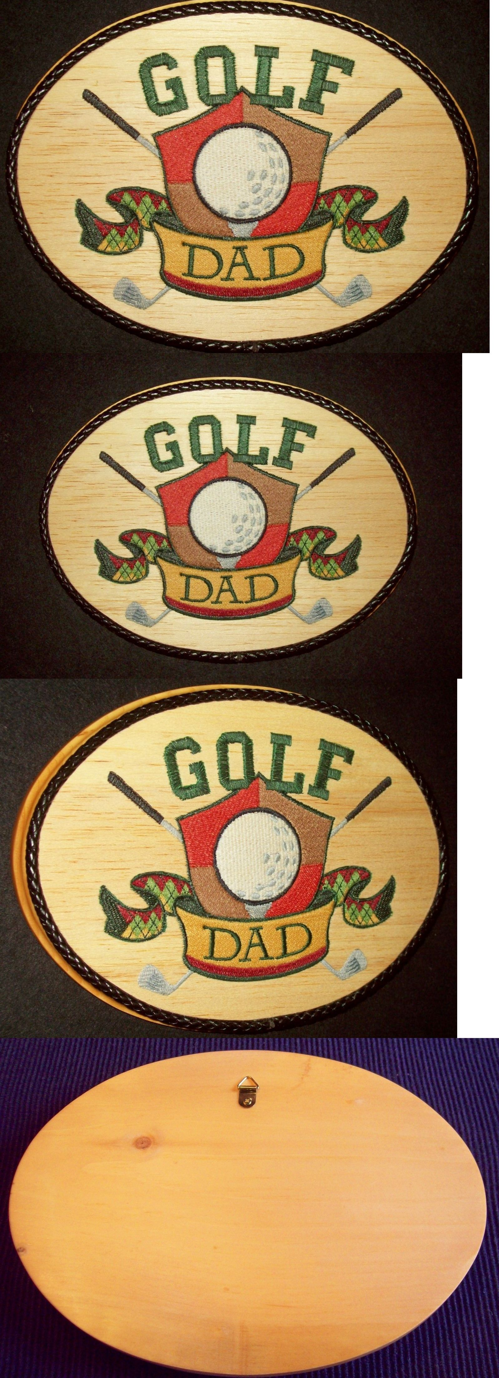 Wall Hangings 83904: Golf Wall Decor Golf Dad Crest Multi-Color ...