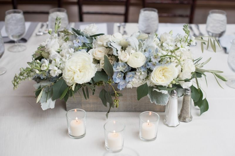 Bon Serenity Blue Floral Table Centerpiece For A Baby Boy Shower At Willowdale  Estate, Topsfield MA (800x533)