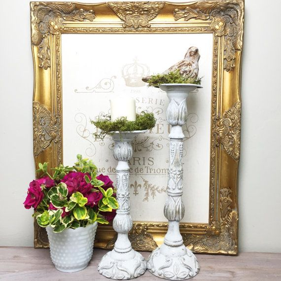 Tall pillar candle holders wedding table centerpiece