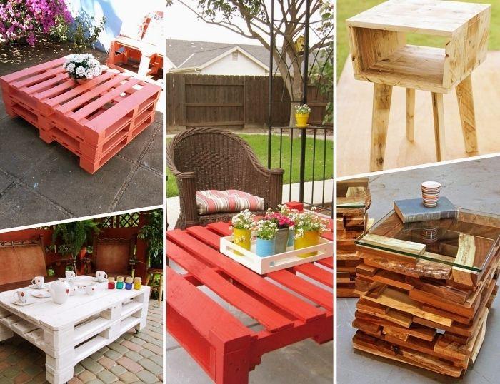▷ 1001 + modèles de table de jardin en palette à faire soi ...