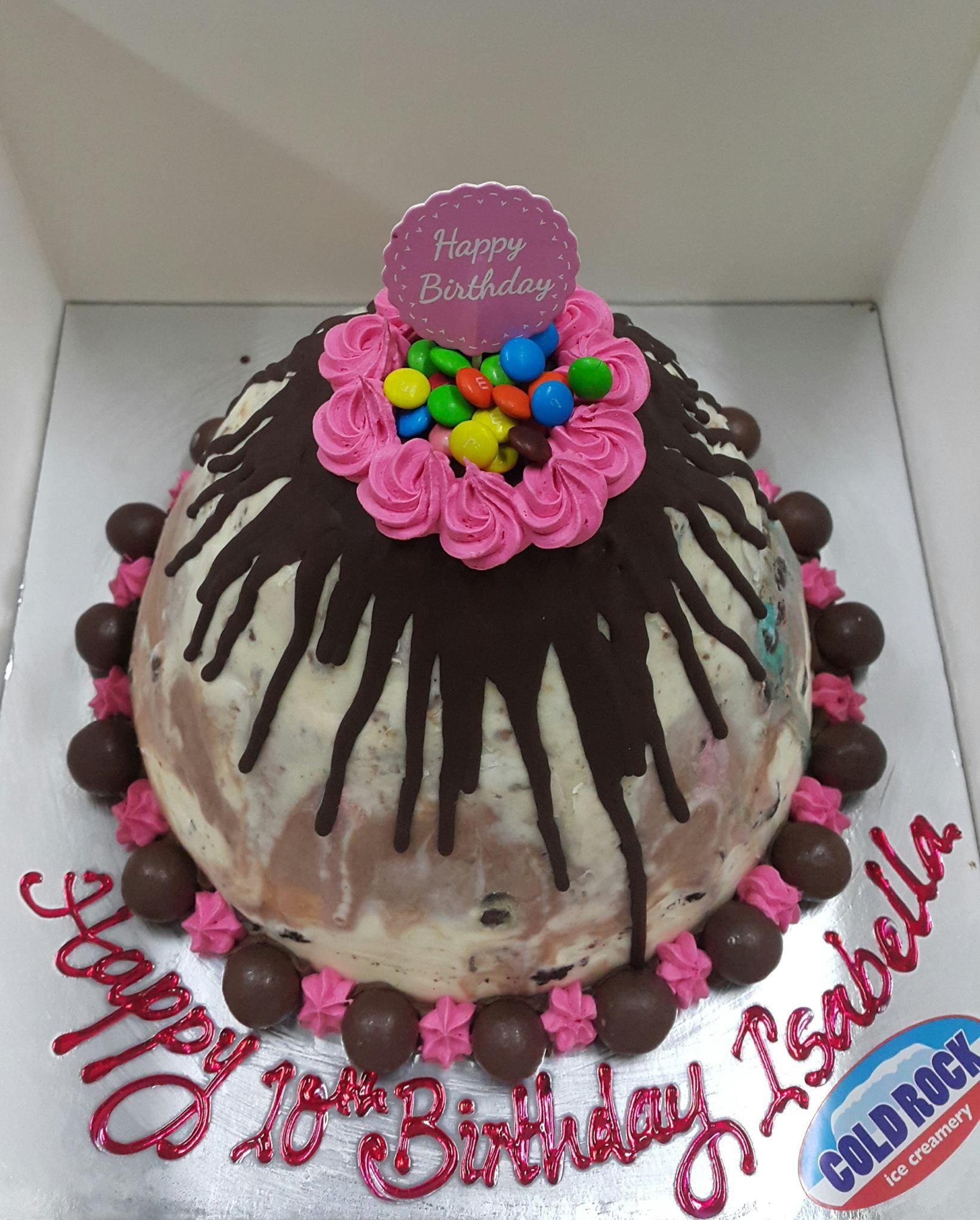 Cold Rock Ice Cream Birthday Cake Three Layer Happy Birthday