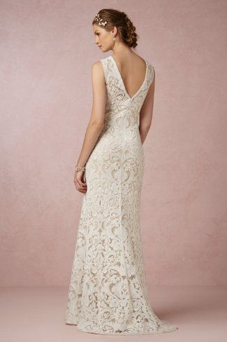 Dress Option From Anthropology Ines Gown In Bride Wedding Dresses Back Detail At BHLDN