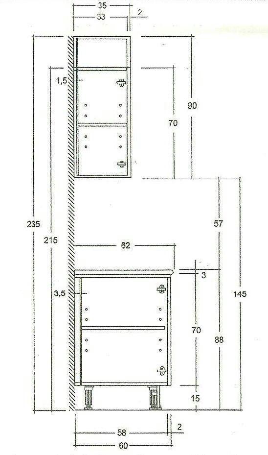 Las medidas de los muebles de cocina desc brelo for Cocina medidas minimas