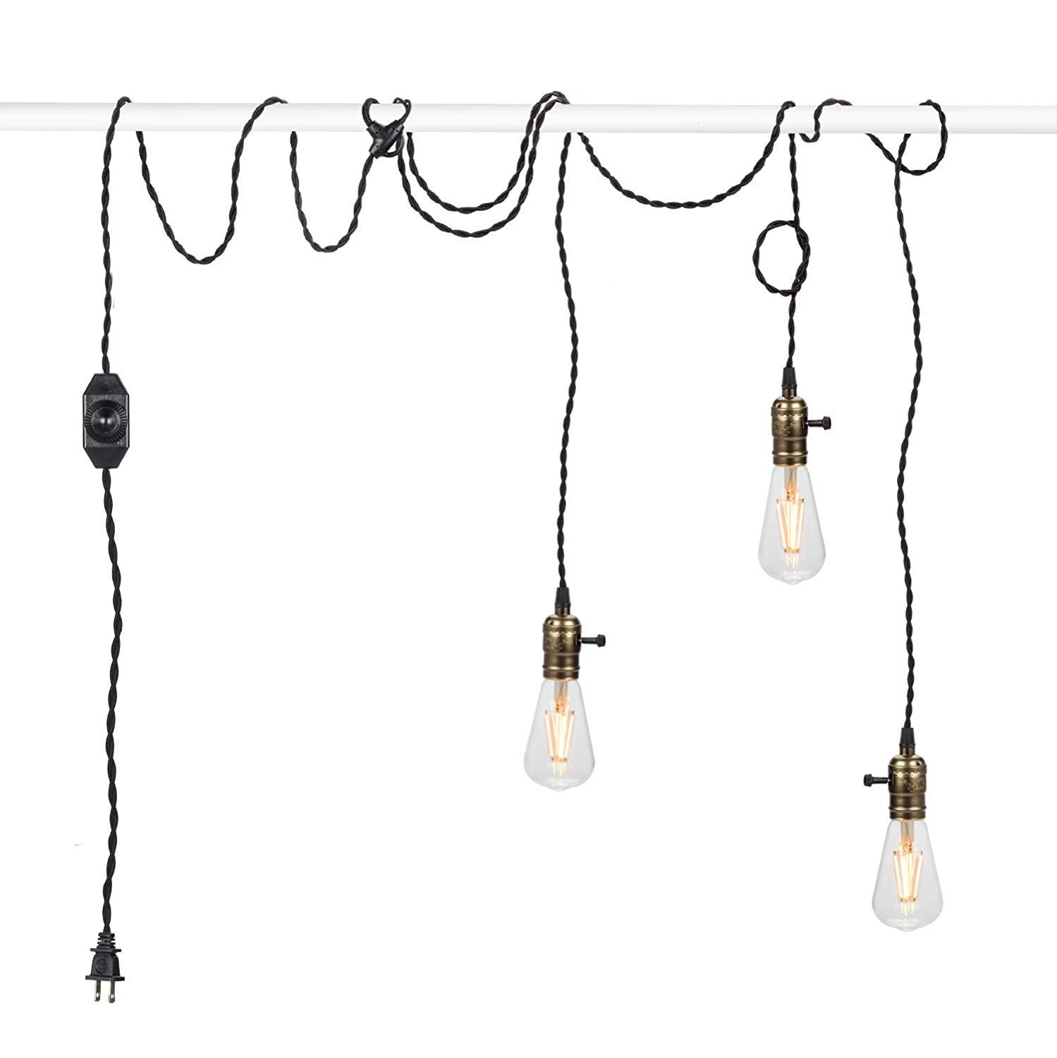 Vintage Pendant Light Kit Cord With Dimming Switch And