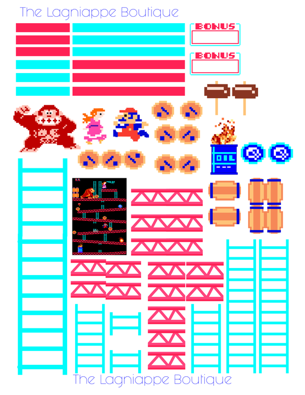 Free Donkey Kong Arcade Game Nintendo Planner Stickers From The Lagniappe Boutique S Blog Little Something Free Planner Stickers Planner Stickers Free Planner