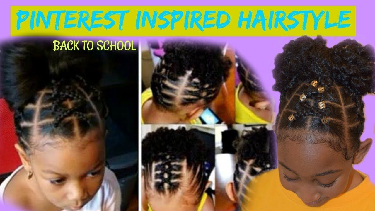 Pinterest Inspired Hairstyle Kids Back To School Natural Hairstyle Hair Styles Natural Hair Styles Toddler Hairstyles Girl