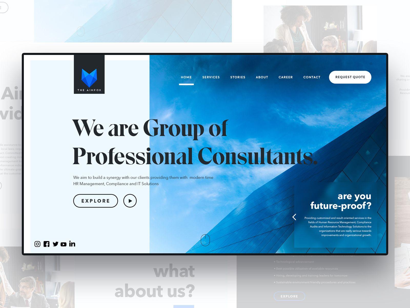 The Aimfox Web Design Mockup Web Design Web Design Typography