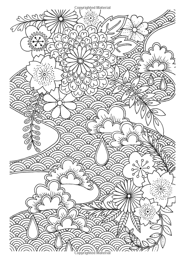 Japanese Patterns Creative Colouring For Grown Ups Amazon Japanese Patterns Coloring Pages Pattern Coloring Pages