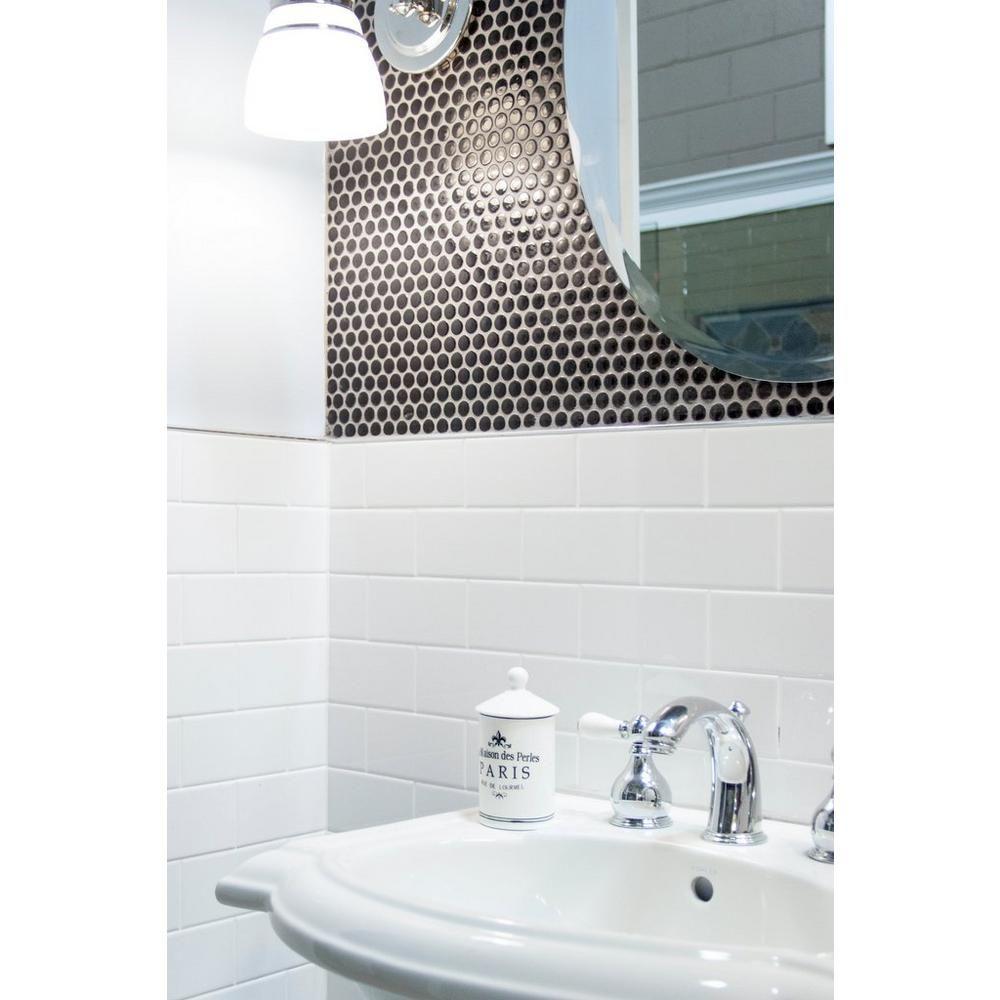 Bright white ice subway ceramic wall tile ceramic wall