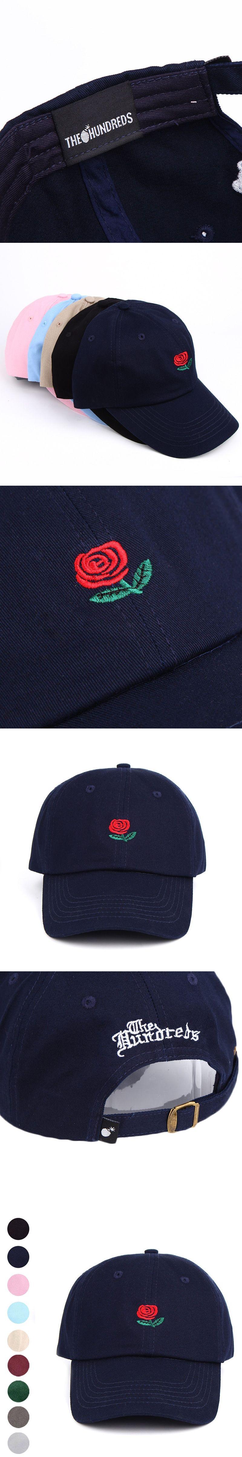 eaf31889046 Fashion Korean Summer Women Men Hat Rose Flower Embroidery Peaked Cap  Curved Baseball Caps Casual Hip
