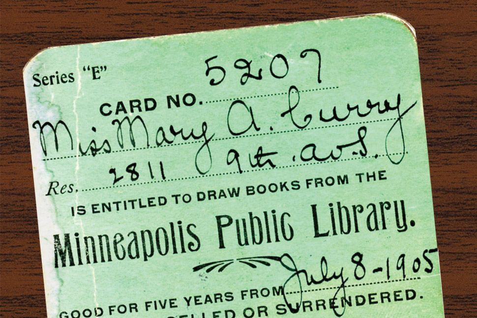 A Library Card From The Minneapolis Public Library Photo