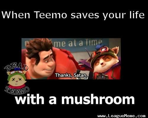 That One Time You Thank Teemo Video Games Lol League Of Legends