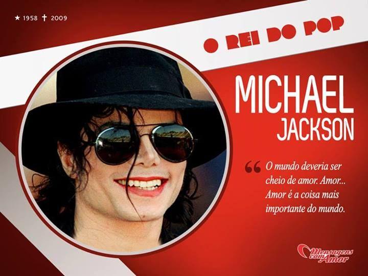 4 anos sem o nosso Rei do Pop, Michael Jackson  Mas vamos nos lembrar desse ícone da música sempre cantando seus maiores sucessos, como Beat It, Thriller, Billie Jean e entre outras canções...  Acesse nossa página do Michael Jackson e leia algumas das suas frases: http://www.mensagenscomamor.com/frases-de-famosos/frases_de_michael_jackson.htm  #michaeljackson #saudades #reidopop #mensagenscomamor
