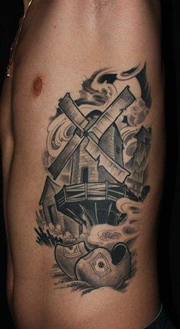 Dutch Windmill Tattoo Back To Dan S Tattoos Windmill Tattoo Tattoos Sleeve Tattoos