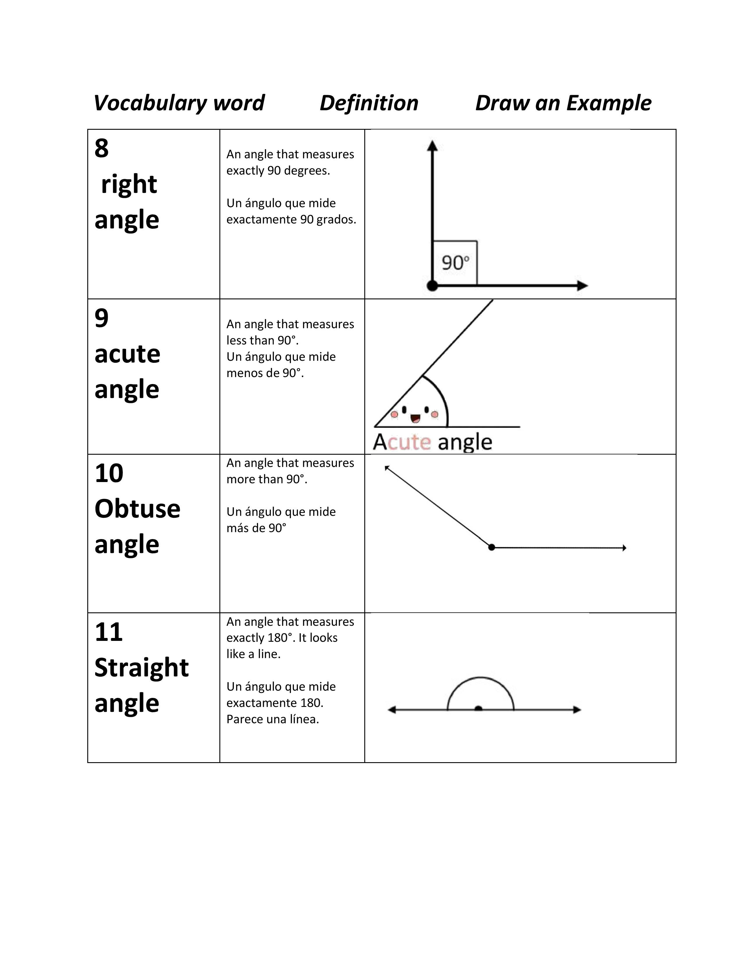 Ell Geometry Spanish English Part 3 Word Definitions Vocabulary Words High School Math [ 3300 x 2550 Pixel ]