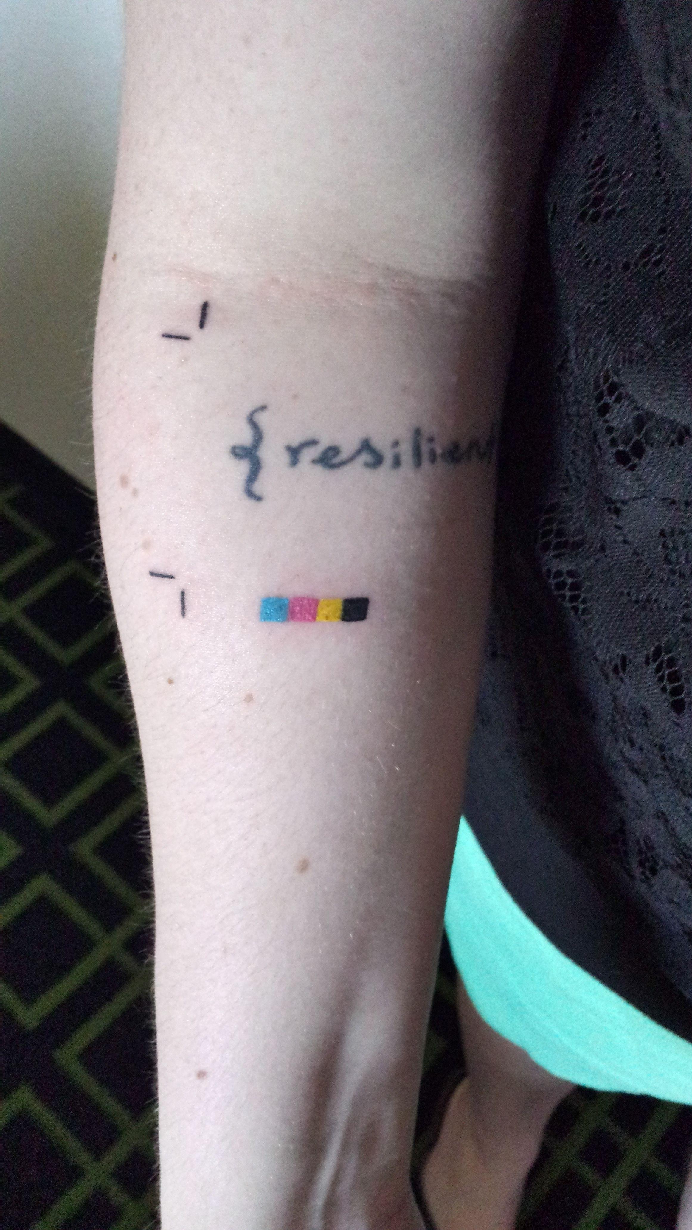 Cmyk Tattoo Graphicdesign Design Graphic Design Tattoos Tattoos Graphic Design Humor
